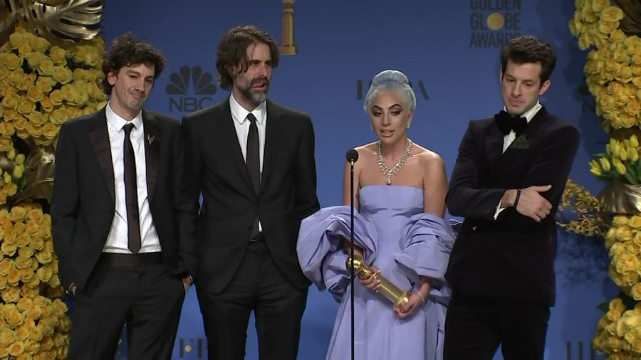 After Globe win for best song, Lady Gaga credits director Bradley Cooper for 'Star' success