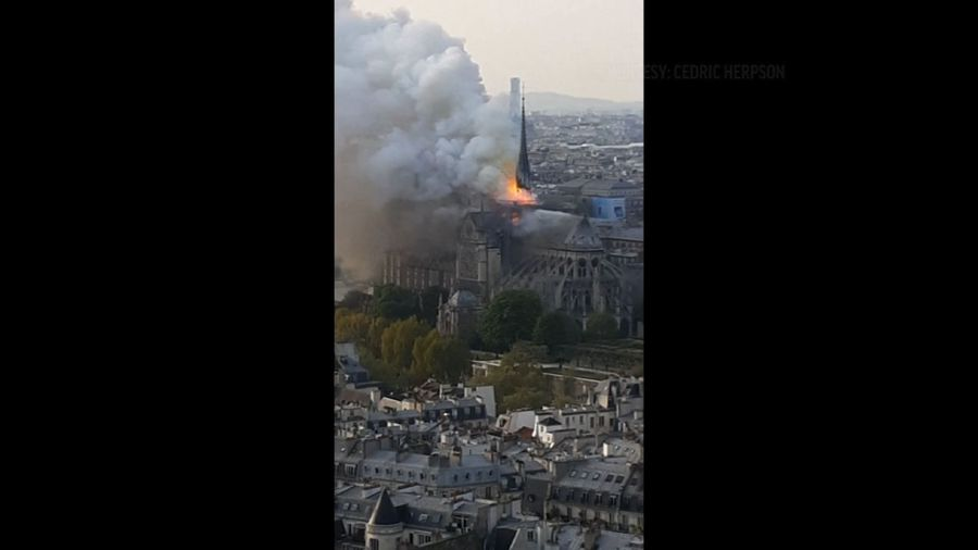 Firefighters: Quick action saved Notre Dame towers