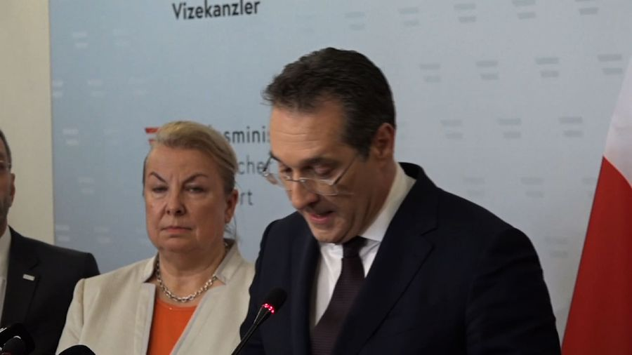 Austrian vice chancellor quits amid video scandal