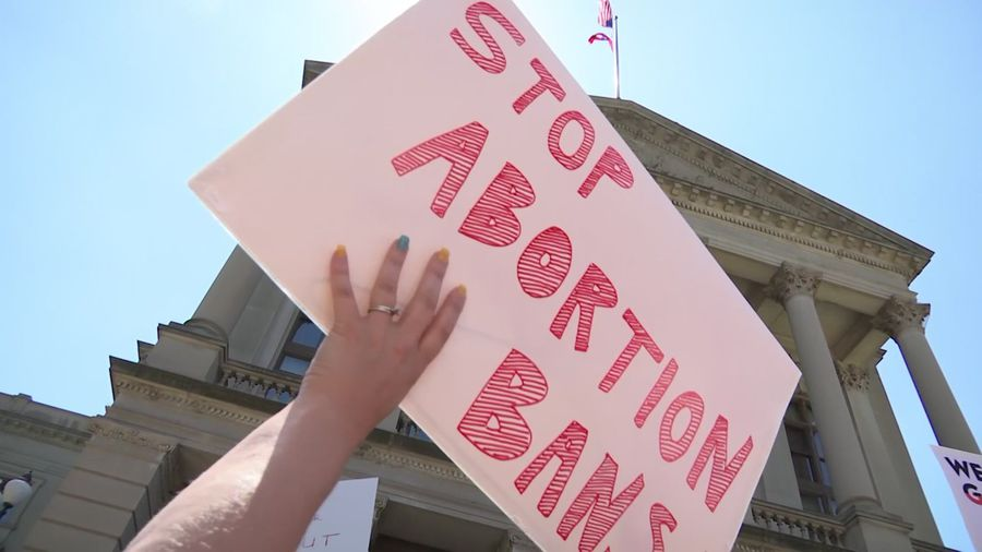 Abortion rights supporters rally in Georgia