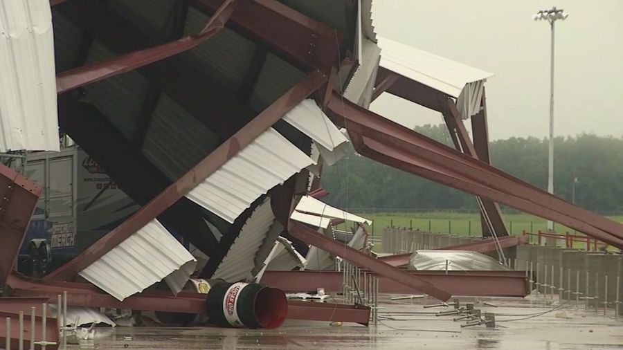 Severe weather damages Missouri speedway
