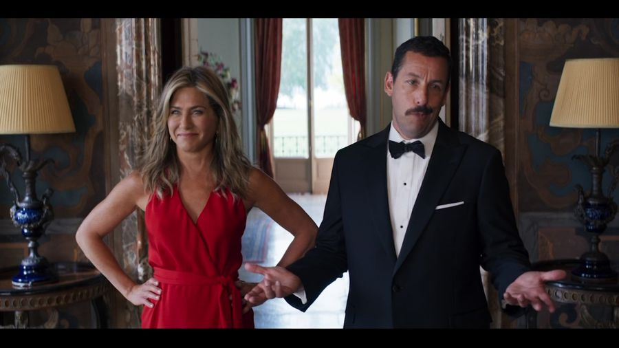 Aniston to Sandler before kissing: 'Oil up the beard'