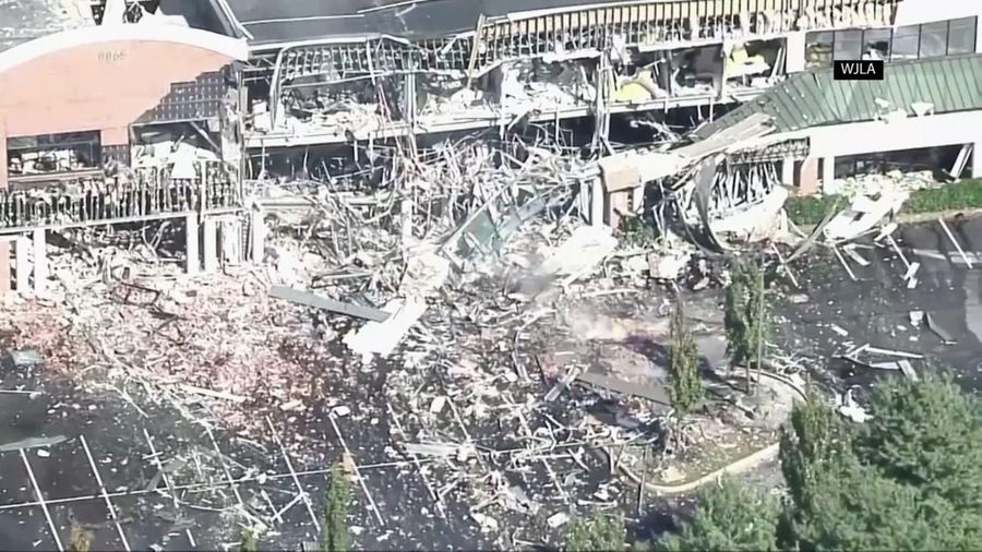 Gas explosion badly damages shopping center