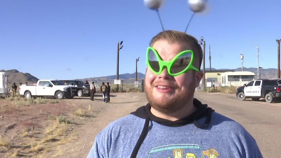 Peaceful party for revelers near Area 51 in Nevada