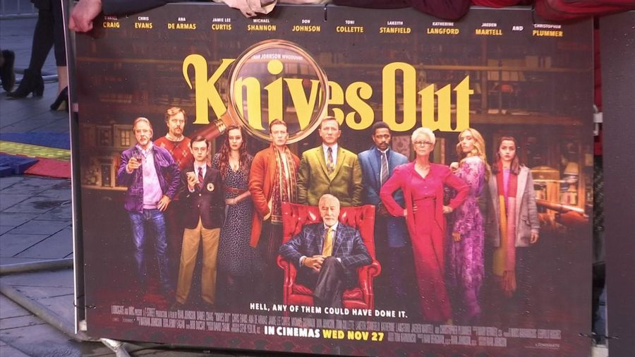 Killer comedy 'Knives Out' premieres in London