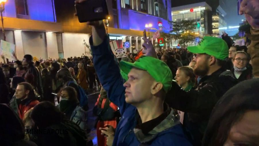 Protests in Minneapolis during Trump rally