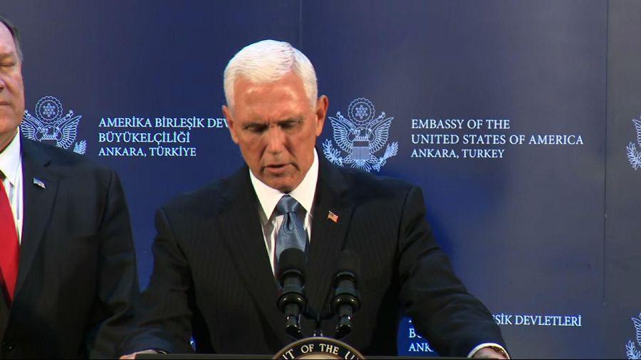 Pence: Turkey has agreed to cease-fire in Syria