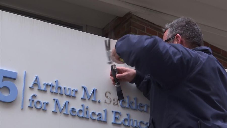 Tufts University removes Sackler sign from bldg