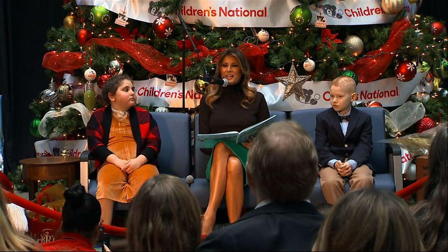 First lady reads story to hospitalized kids