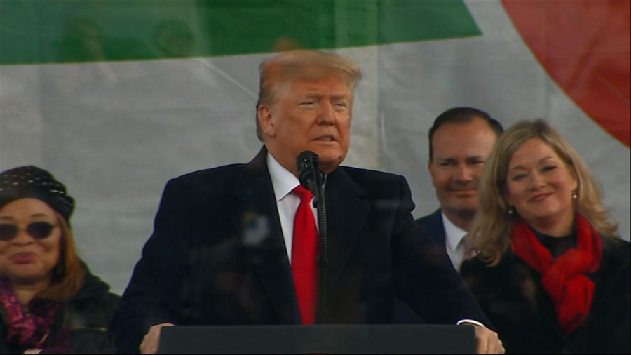 Trump addresses anti-abortion March for Life rally