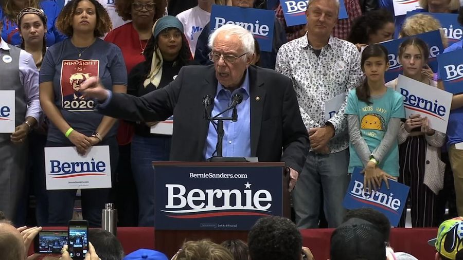 Sanders pushes childcare, cancelling student debt