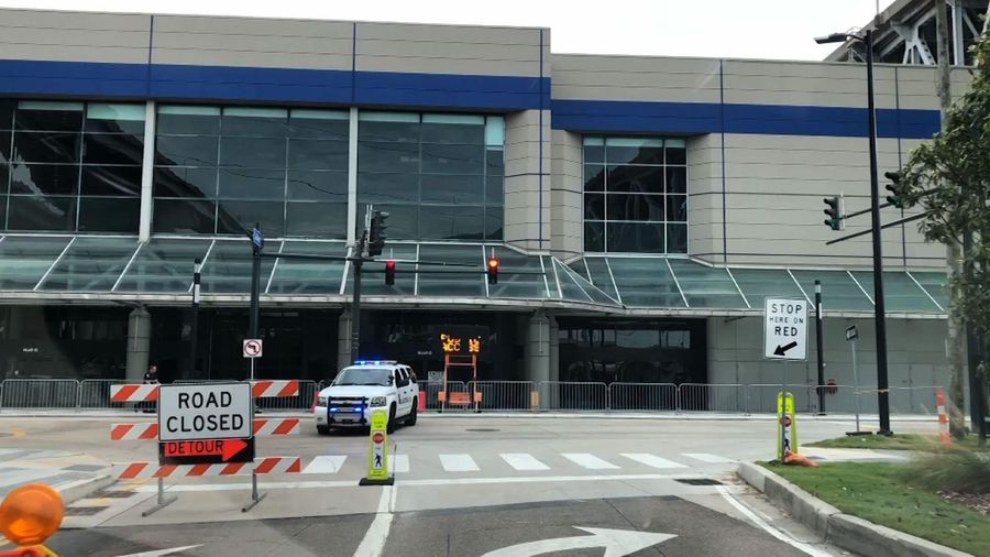 Convention center begins accepting virus patients