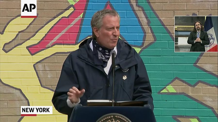Mayor: NYC committed to feeding all amid pandemic