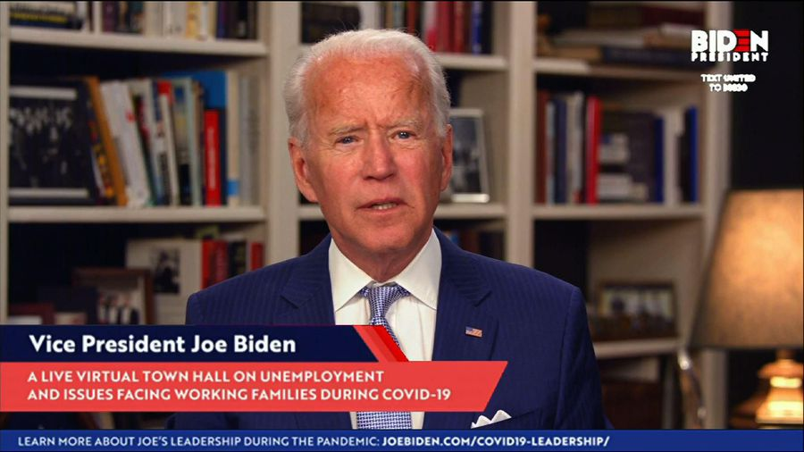 Biden gives criticism, suggestions to Trump admin.