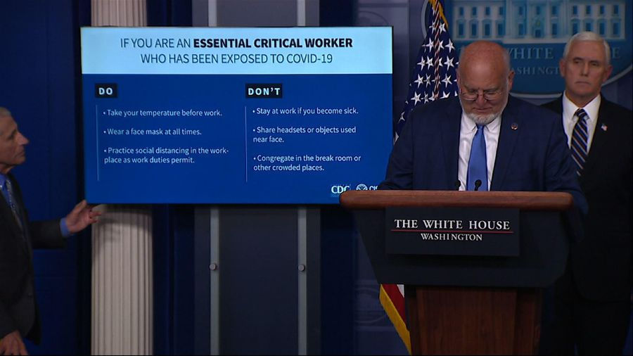 CDC issuing new guidelines for essential workers
