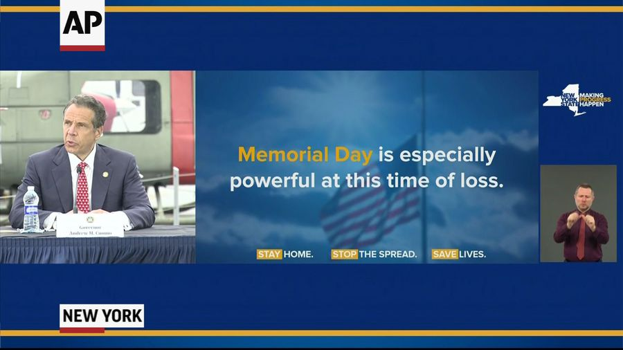 Cuomo thanks essential workers on Memorial Day
