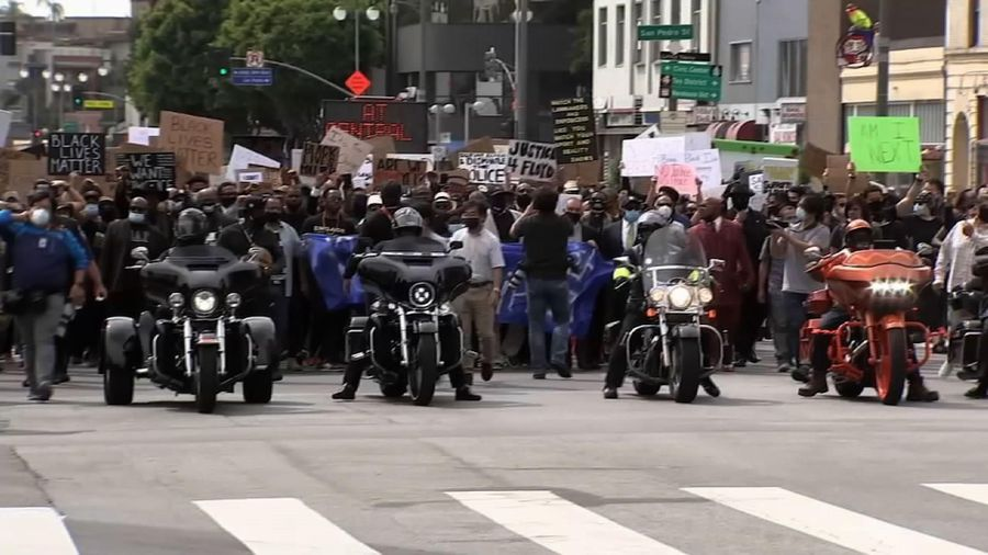 Los Angeles sees protests downtown, in Hollywood