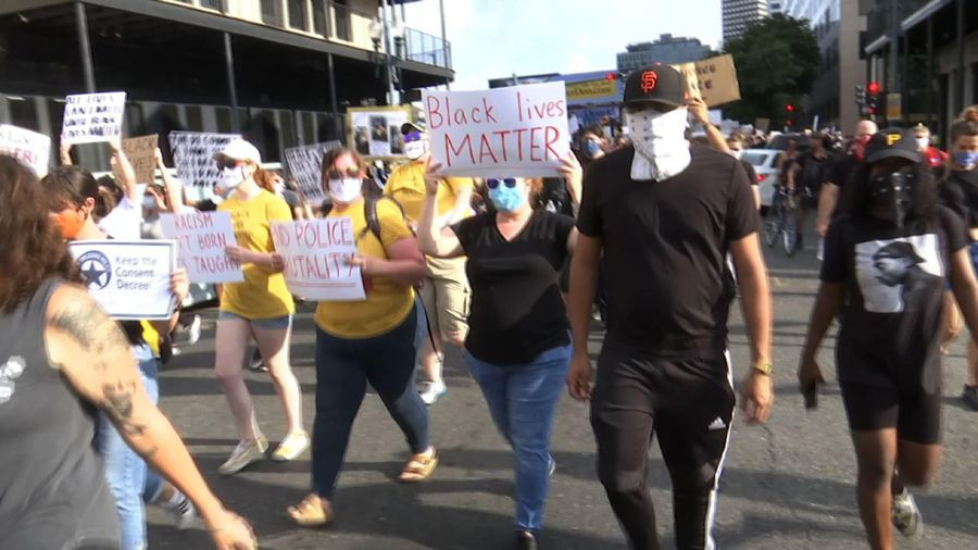 Hundreds rally for black lives in New Orleans