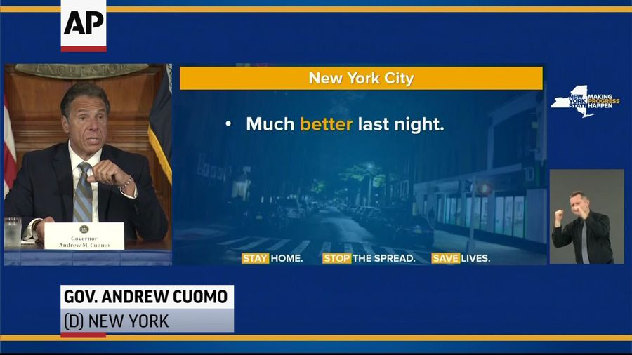 Cuomo on NYC's 'better night', calls for leadership