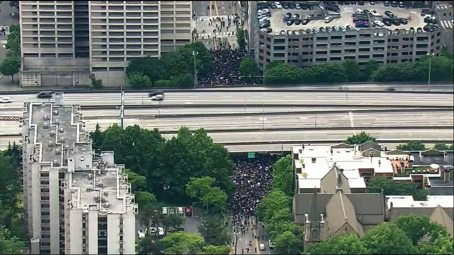 West Coast afternoon protests appear peaceful