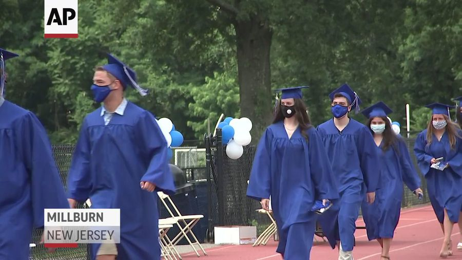 In-person school graduations resume in New Jersey