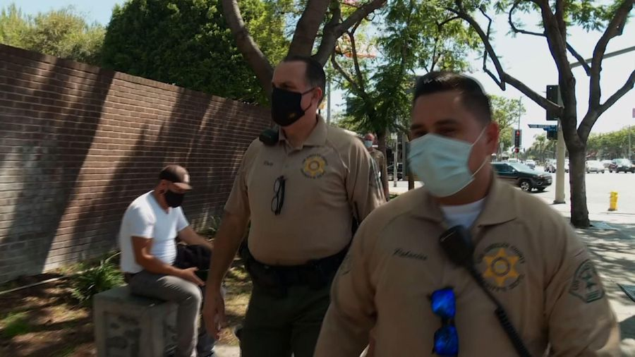 West Hollywood enforces mask use as virus surges