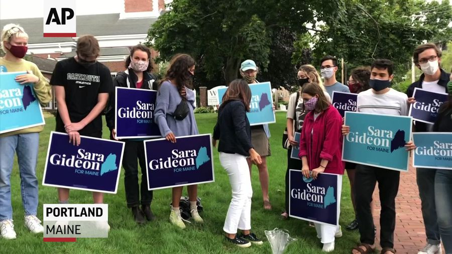 Maine Dem. Gideon wins primary, will face Collins