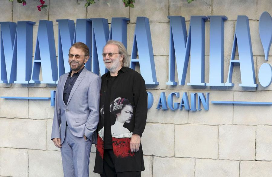 ABBA's Bjorn and Benny reunited at London's Mamma Mia: The Party