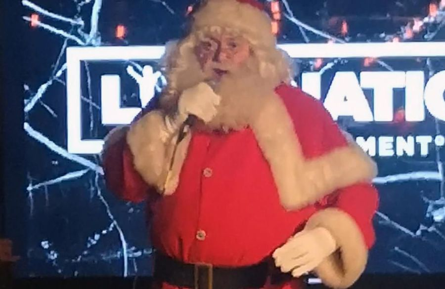 Santa stole the show at Live Nation's festive party!