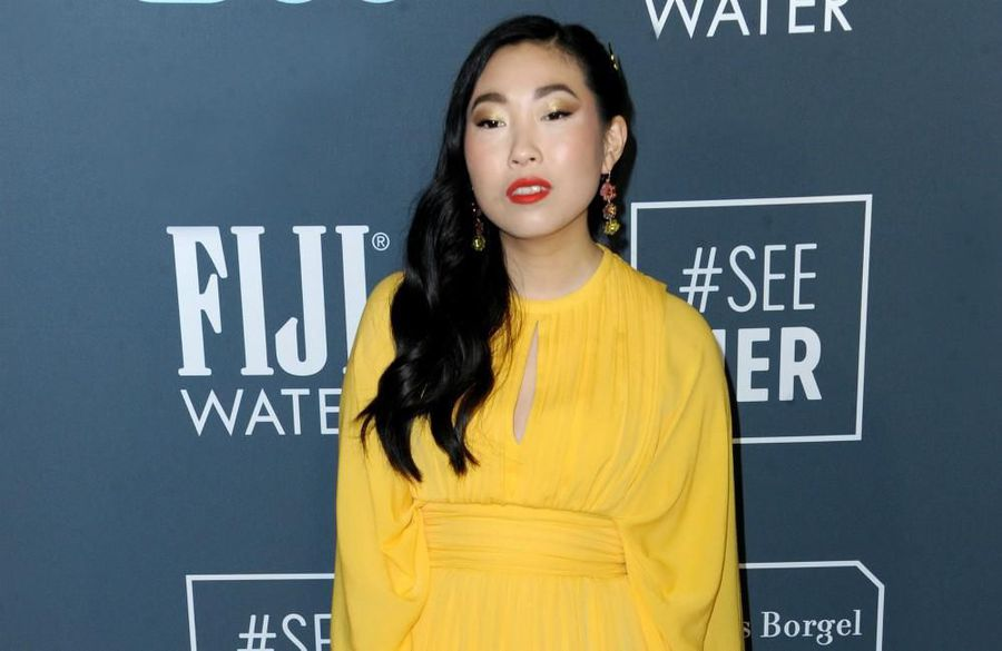 Awkwafina red carpet look inspired by 'power'