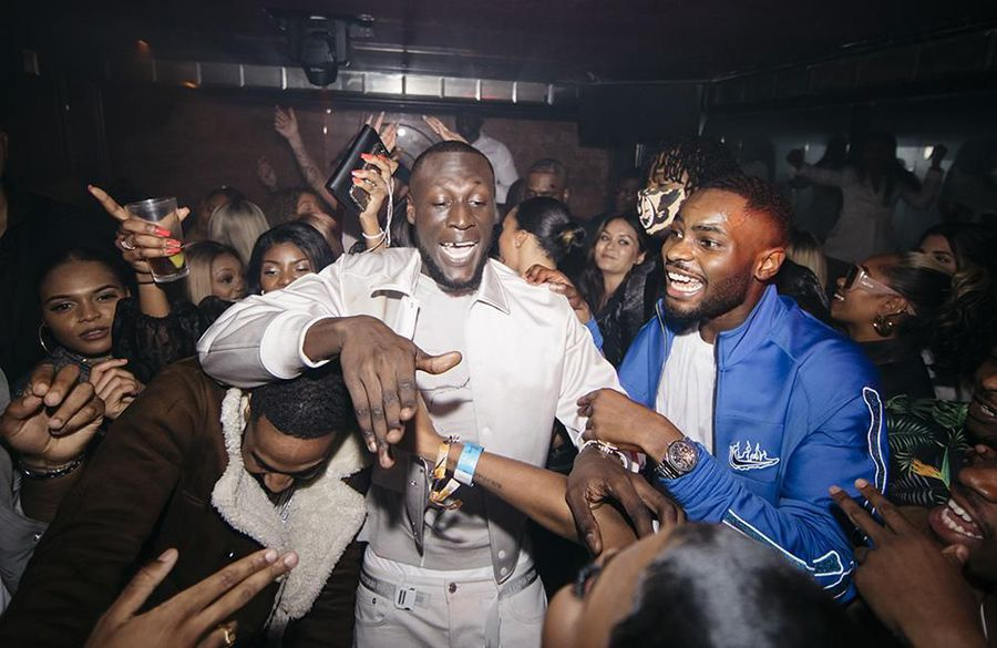 Stormzy parties with Brit Awards winner Dave