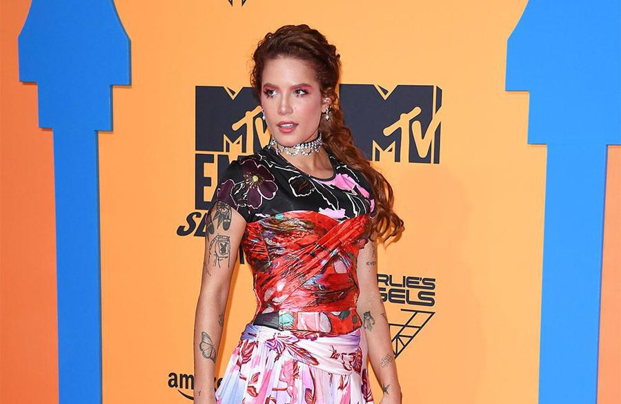 'Pretty embarrassing!': Halsey fractures ankle while loading dishwasher