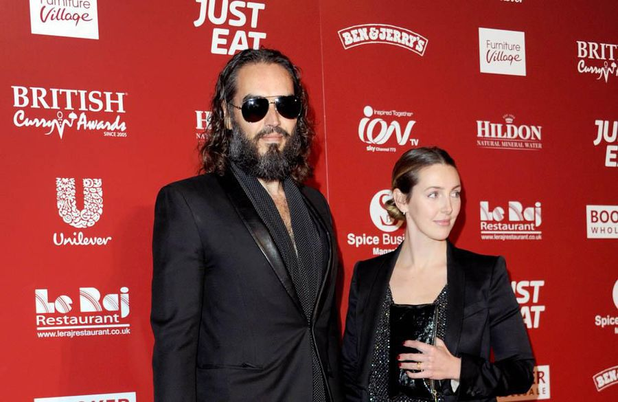 Russell's slow life: Russell and Laura Brand are 'enjoying a slower pace of living'
