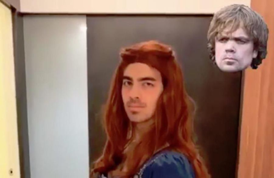 Joe Jonas dressed as Sansa Stark for Halloween