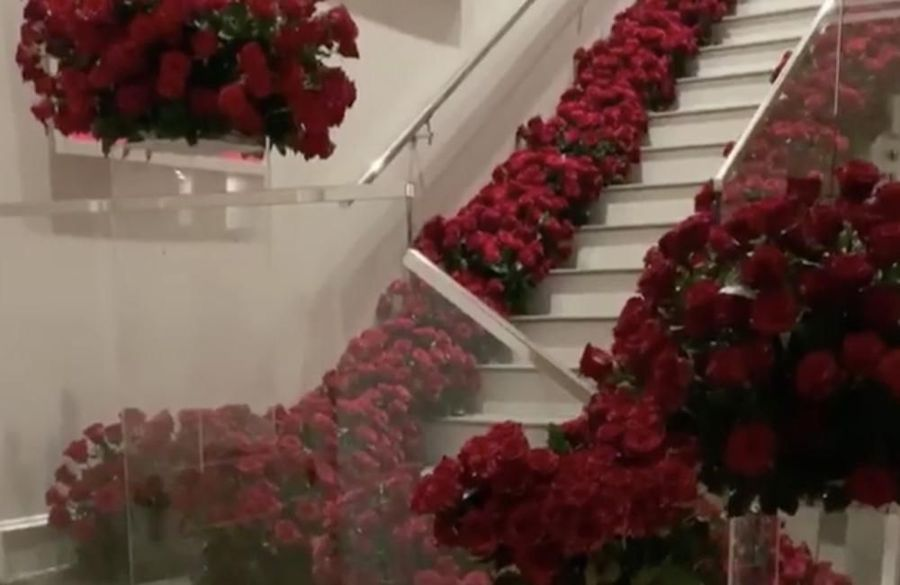 Travis Scott surprises Kylie Jenner with house full of roses