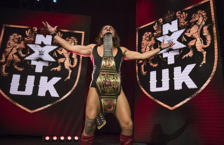 Rhea Ripley and Pete Dunne at WWE's First International Performance Center