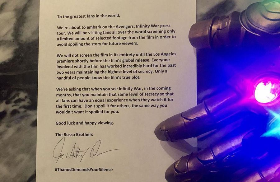 Russo brothers ask for fans not to spoil Avengers: Infinity War