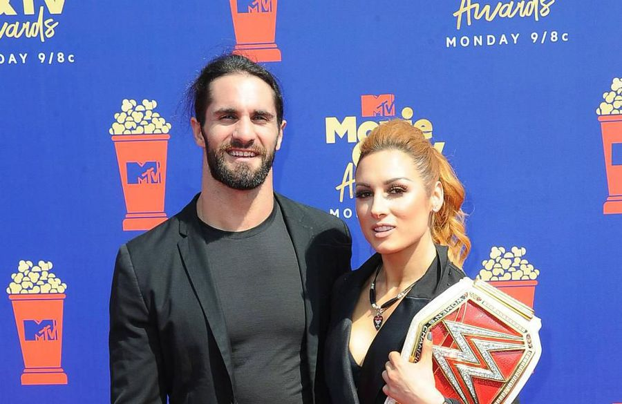 Seth Rollins and Becky Lynch engaged