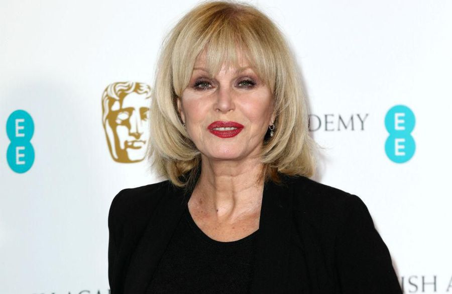 Charity shopper Joanna Lumley