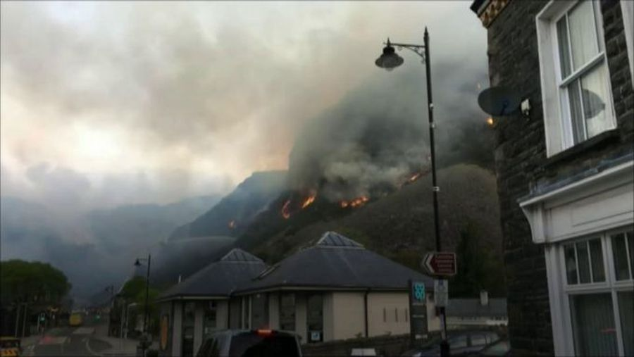 'The hillside looked like a volcano'