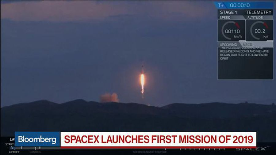 SpaceX Launches First Mission of 2019