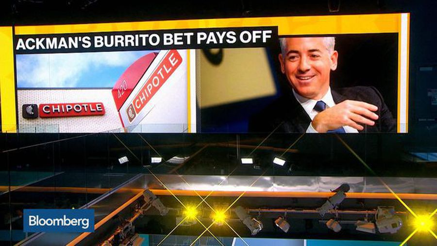 Ackman's Burrito Bet Pays Off as Chipotle Rallies to a Record