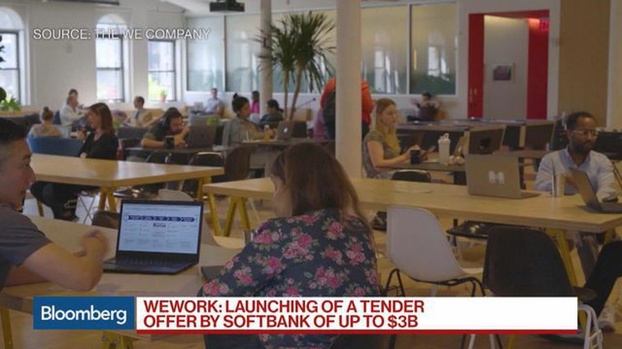 SoftBank's Ownership of WeWork to Be About 80% After Tender Offer