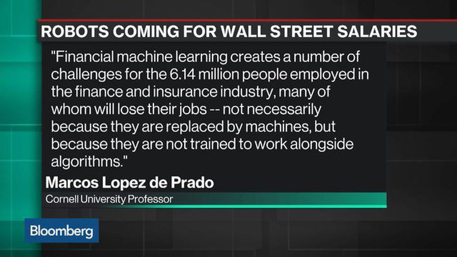 Robots Could Wipe Out Some of Wall Street's Higher-Paying Jobs