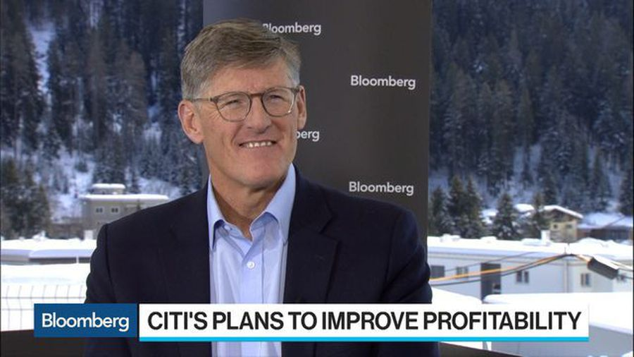 Citigroup CEO Corbat Says Business Solid, Branch Workers Won't Be Replaced