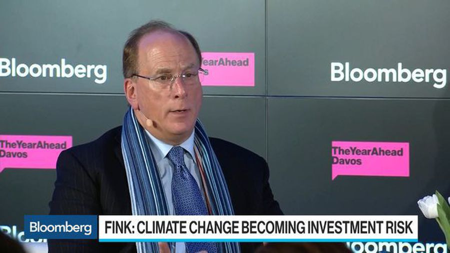 BlackRock CEO Fink Sees Climate Change Becoming an Investment Risk