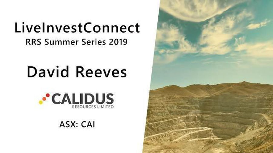RRS Summer Series 2019 - Calidus Resources