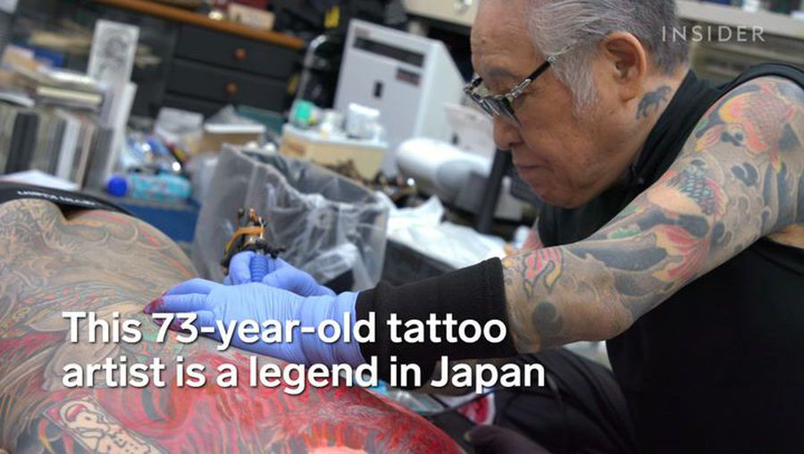 This 73-year-old is Japan's greatest full-body-tattoo artist