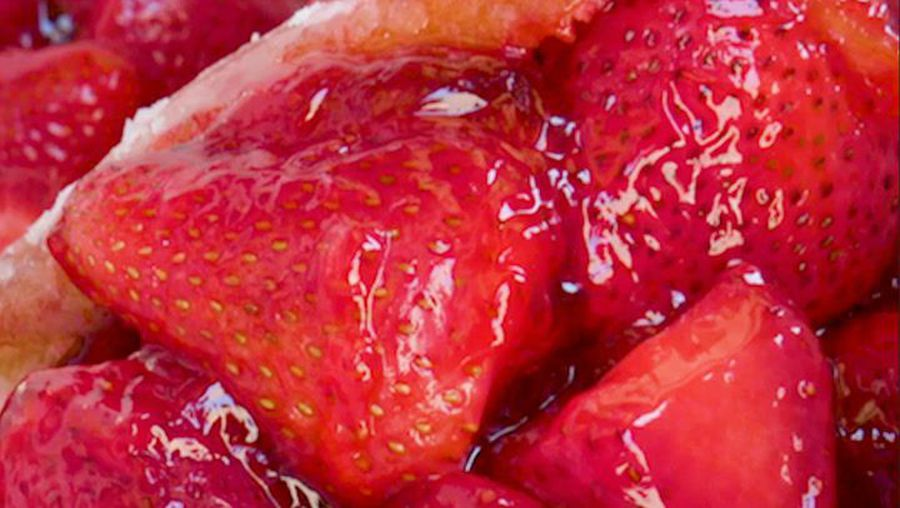These are LA's famous strawberry doughnuts