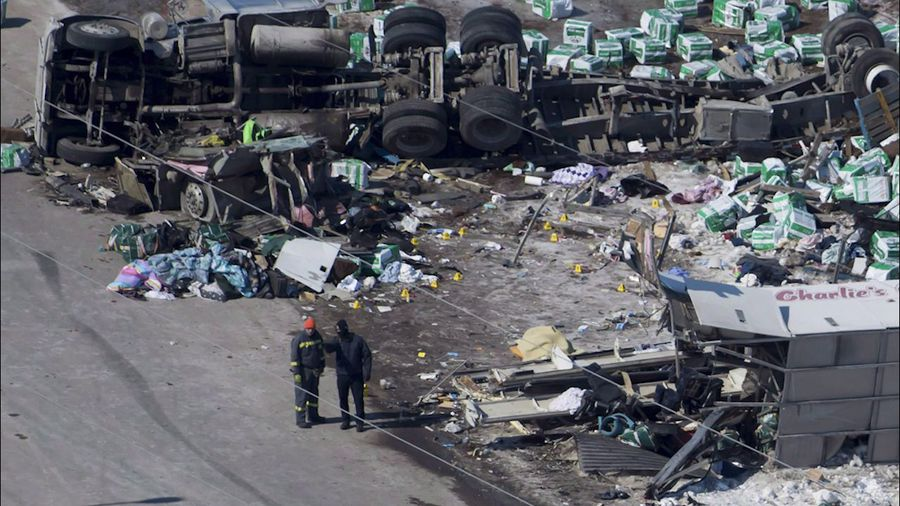 Cause of Broncos bus crash still unknown: RCMP